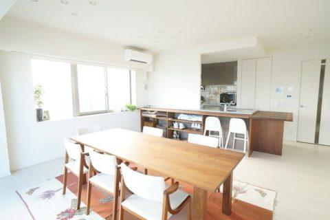 くっちゃべ料理教室の内装工事と家具設置工事